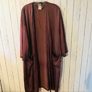 Vintage silk duster kimono